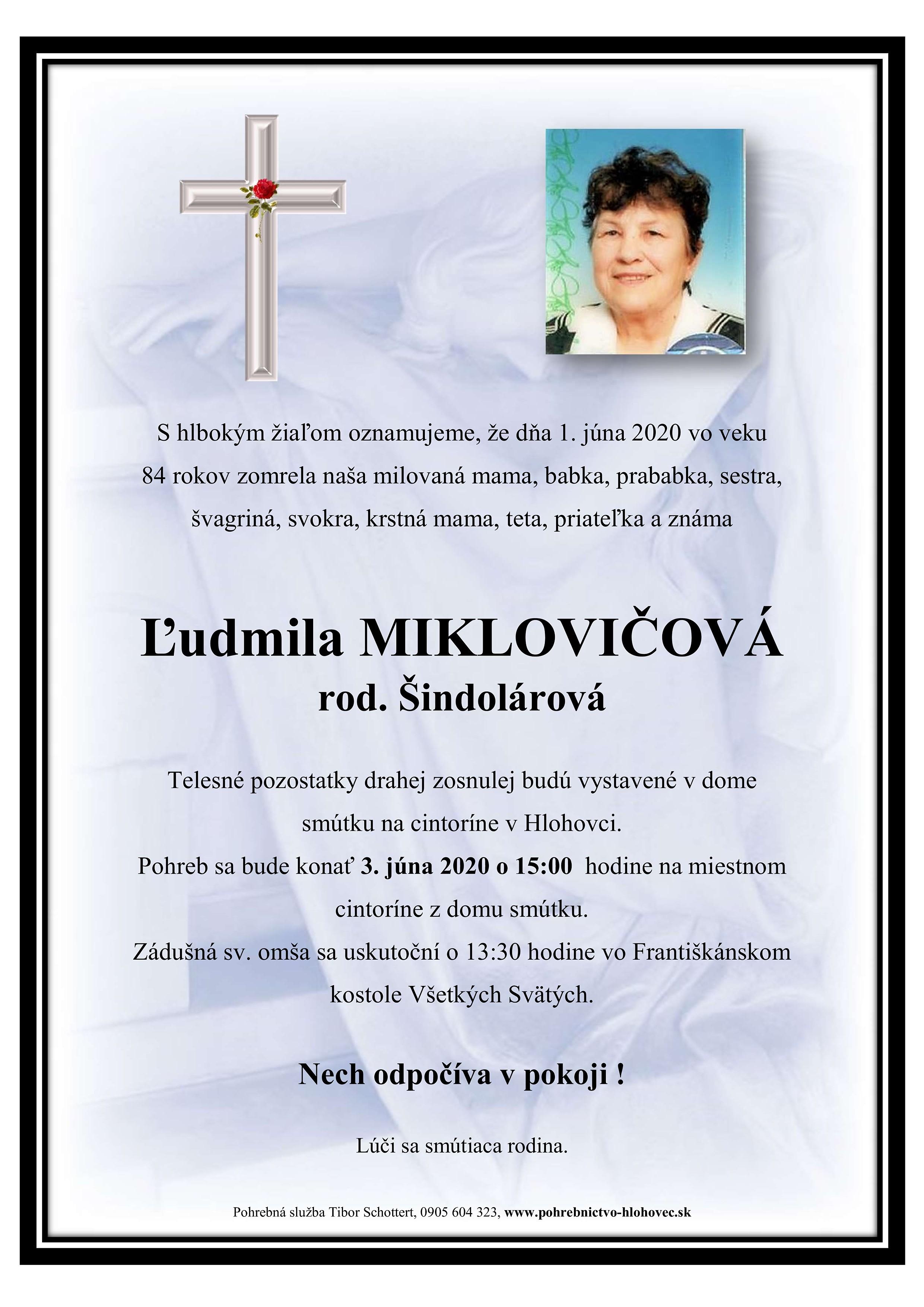 Ľudmila Miklovičová Parte