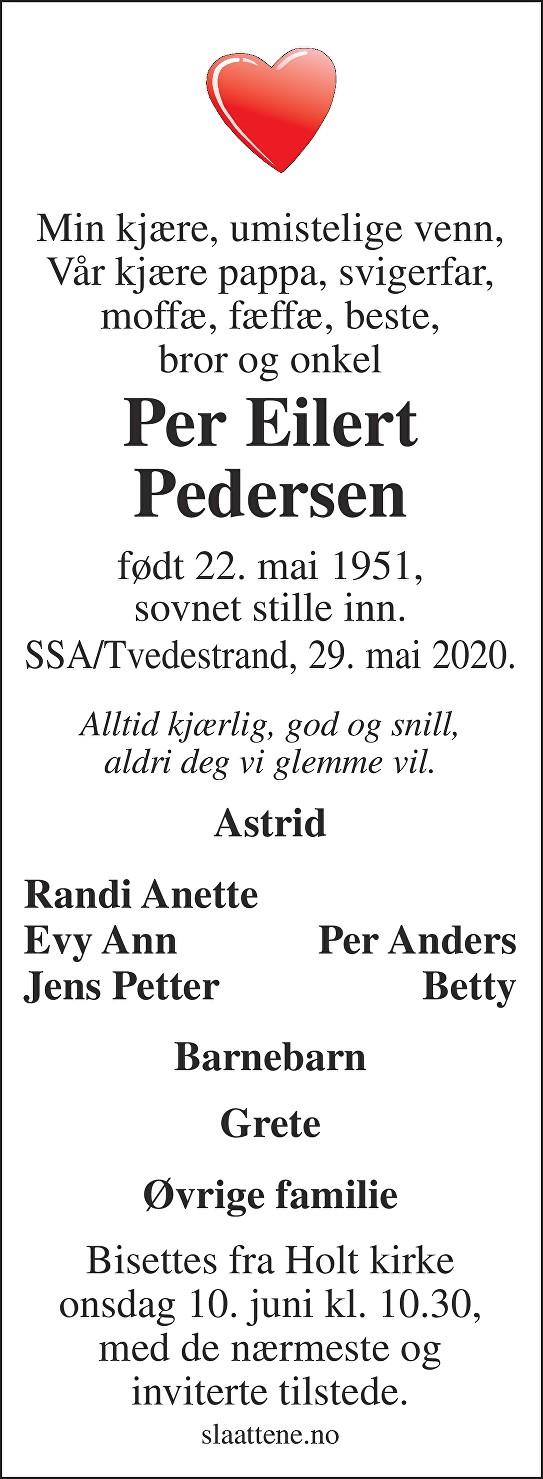 Per Eilert Pedersen Dødsannonse