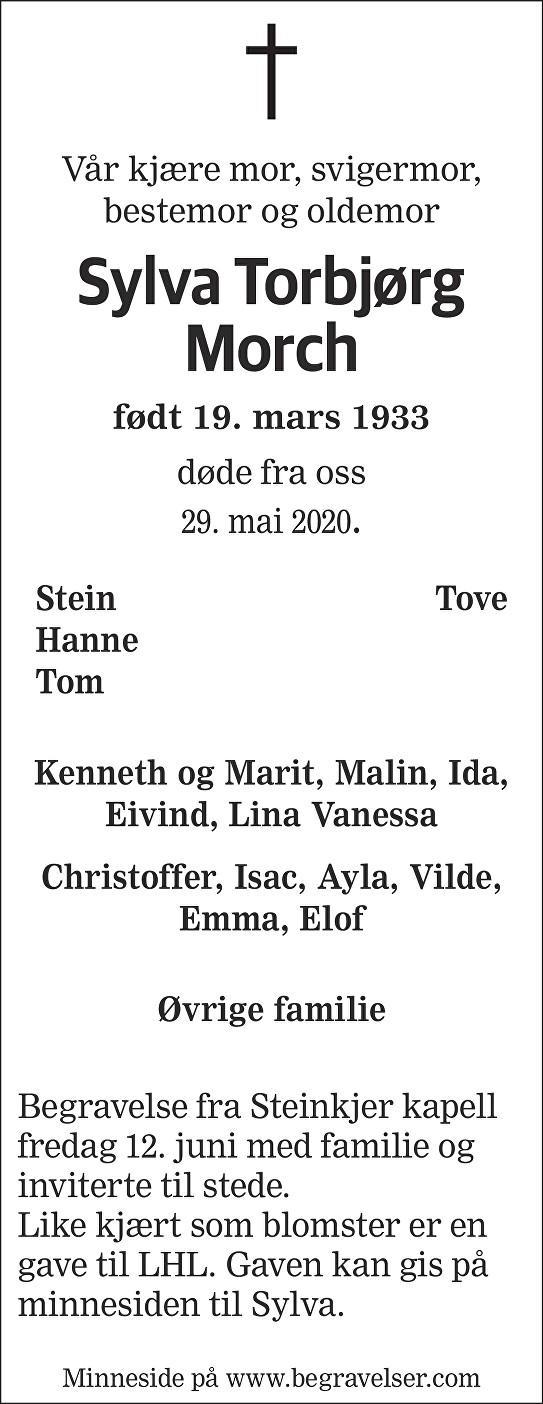 Sylva Torbjørg Morch Dødsannonse
