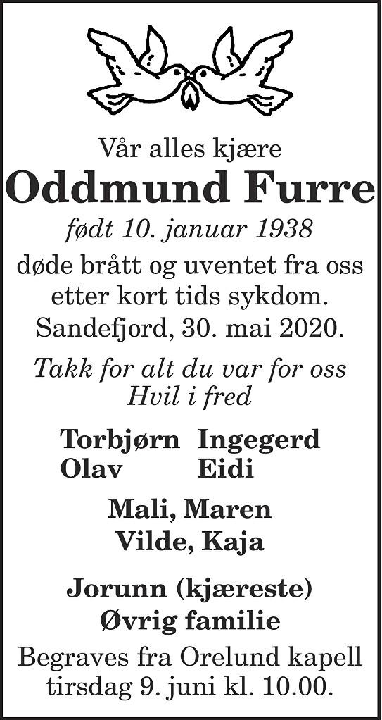 Oddmund Furre Dødsannonse