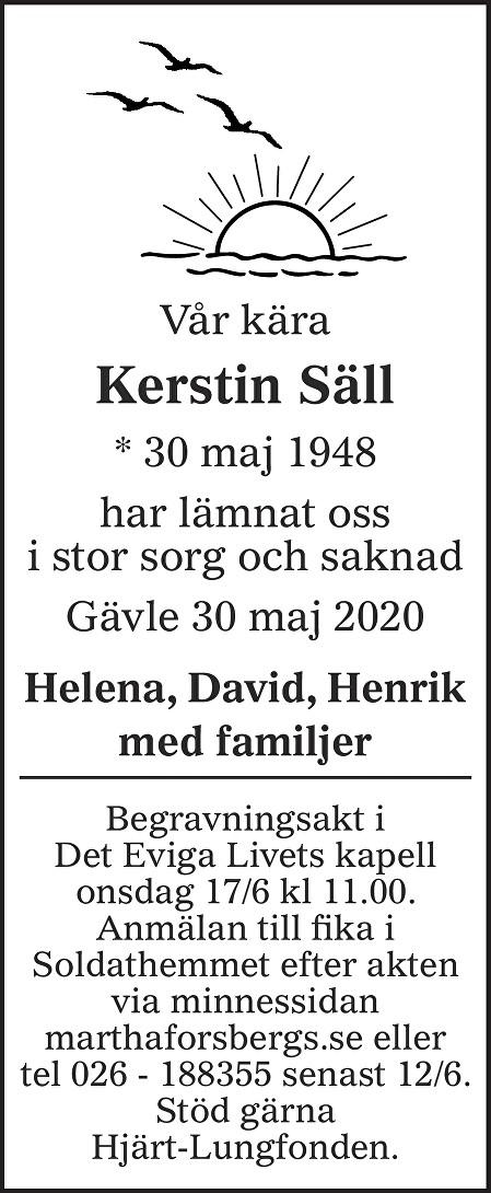 Kerstin Säll Death notice