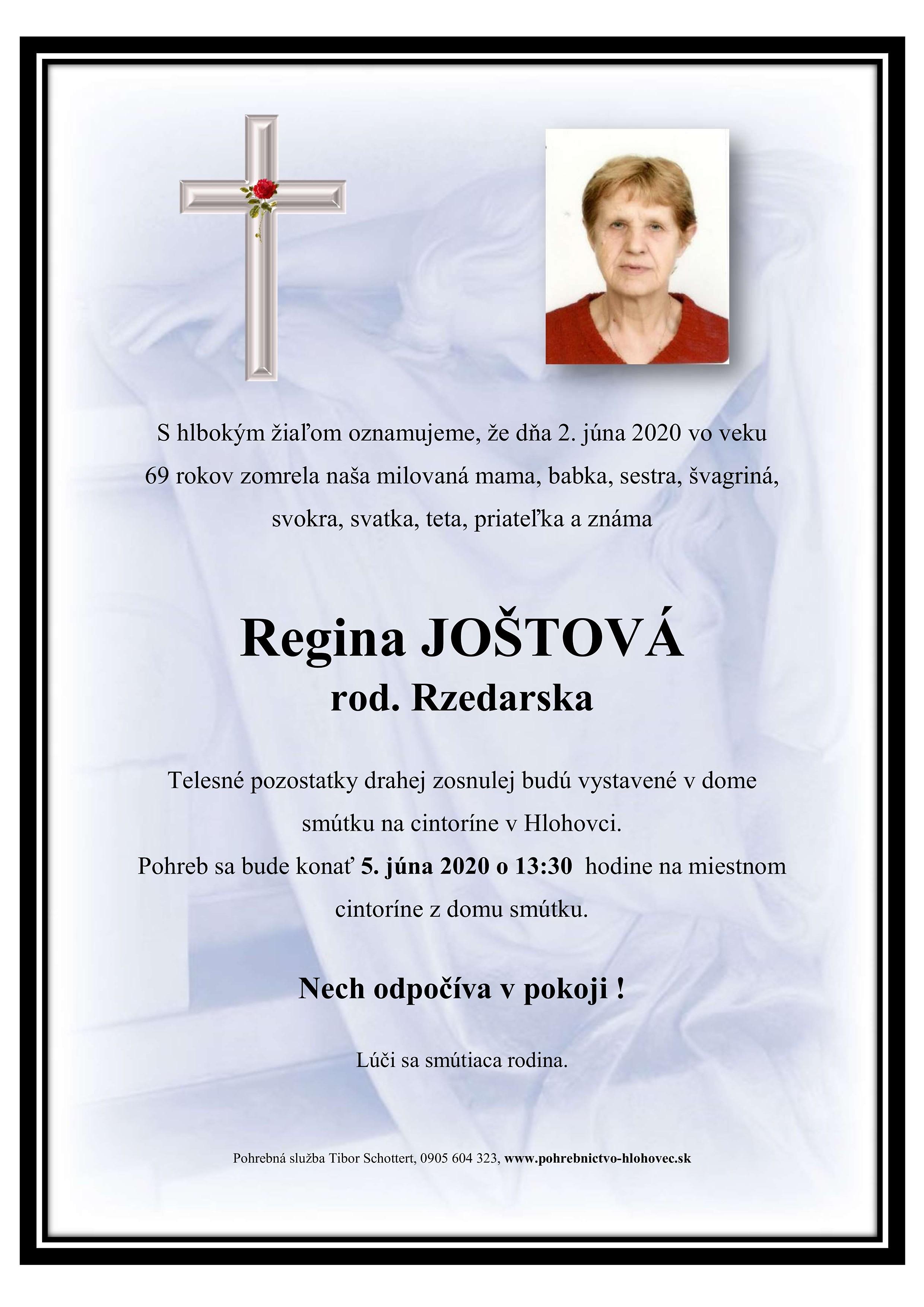 Regina Joštová Parte