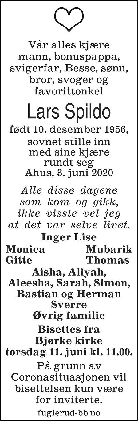 Lars Spildo Dødsannonse
