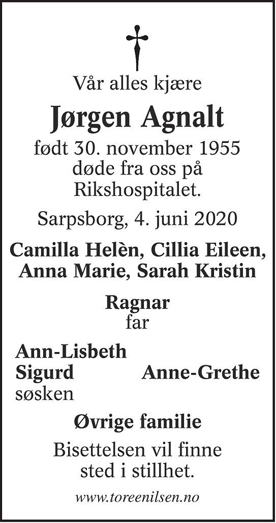 Jørgen Agnalt Dødsannonse