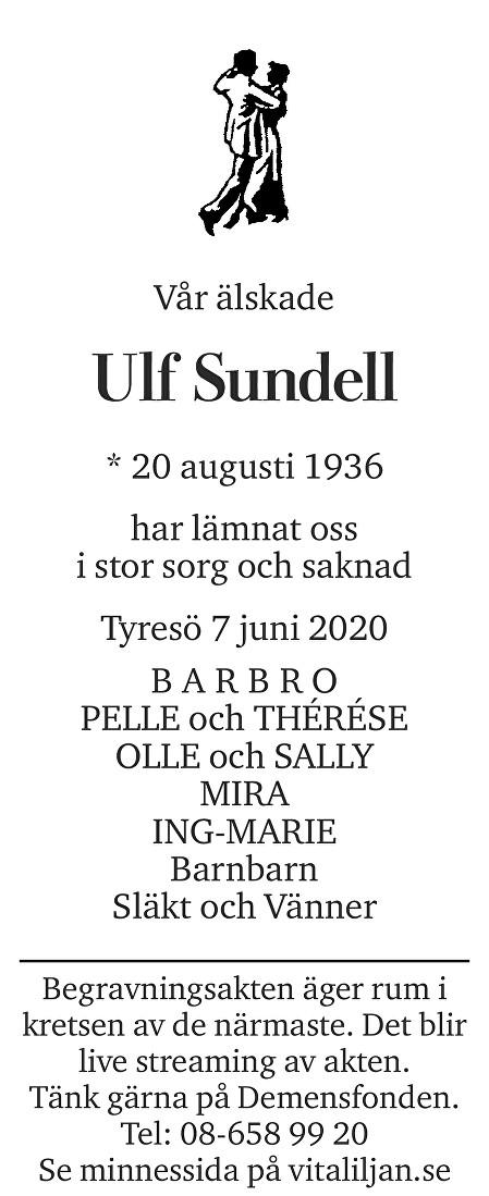 Ulf Sundell Death notice