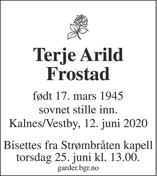 Terje Arild Frostad Dødsannonse