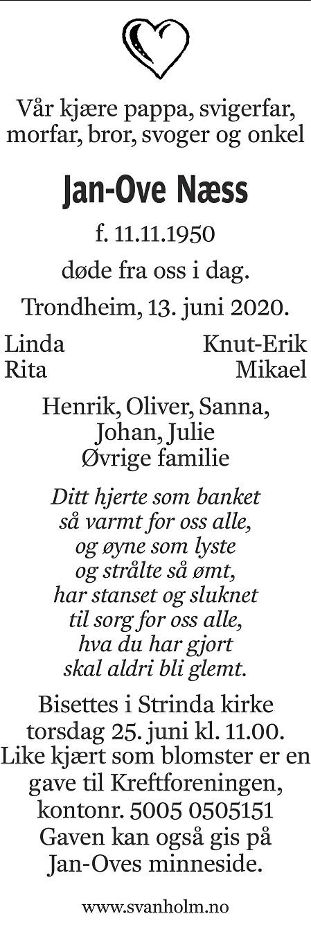 Jan Ove Næss Dødsannonse