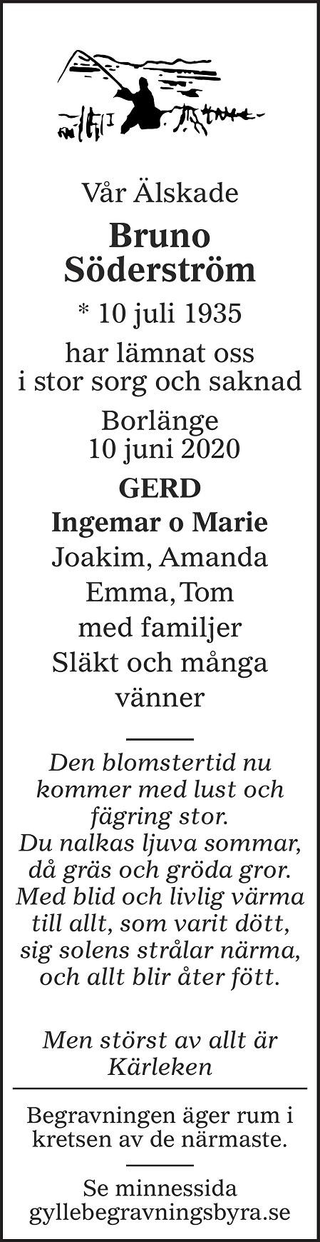 Bruno Söderström Death notice
