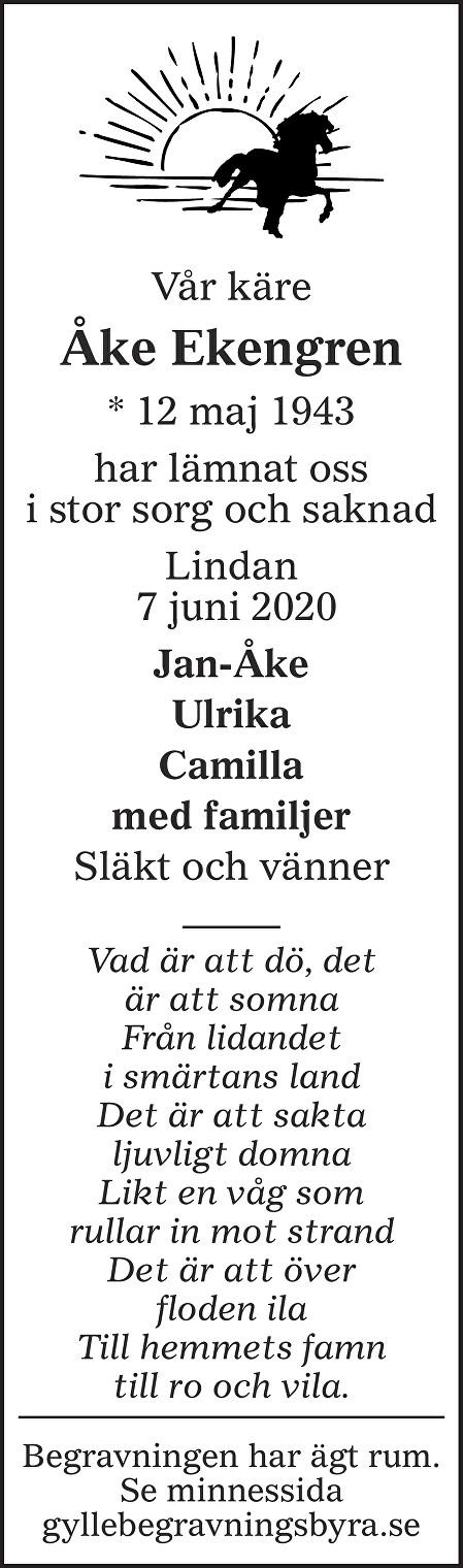 Åke Ekengren Death notice