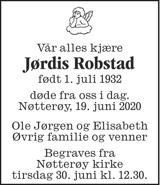 Jørdis Esther Robstad Dødsannonse