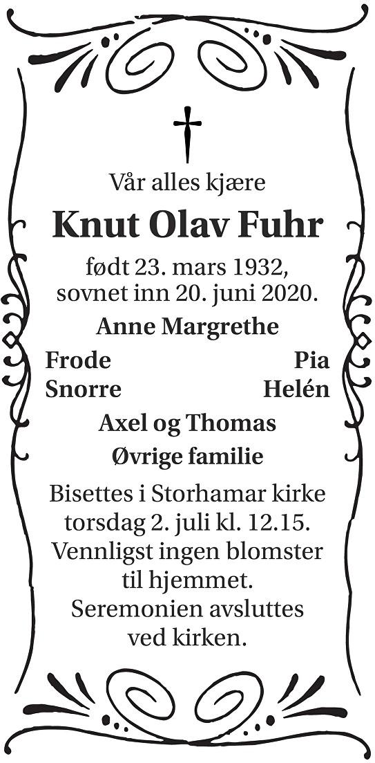 Knut Olav Fuhr Dødsannonse