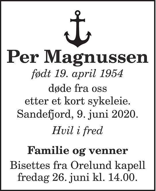 Per Magnussen Dødsannonse