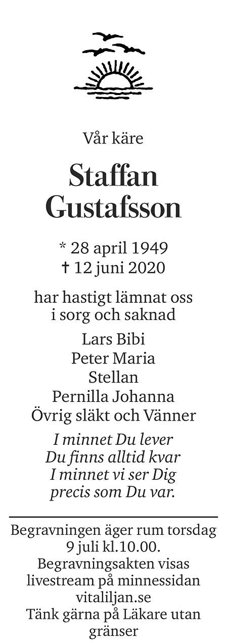 Staffan Gustafsson Death notice