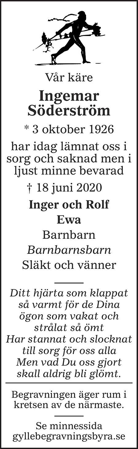 Ingemar Söderström Death notice