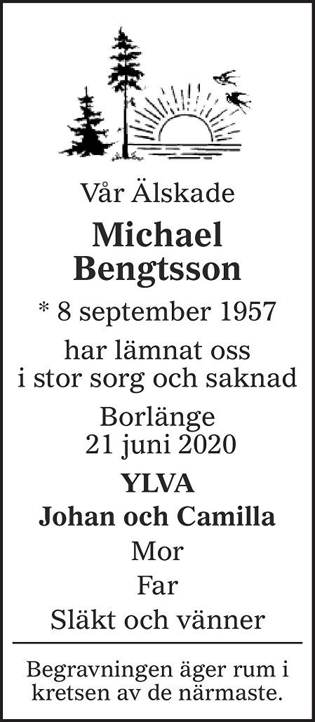 Michael Bengtsson Death notice