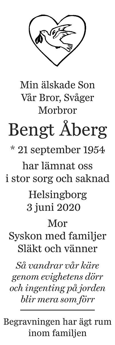 Bengt Åberg Death notice