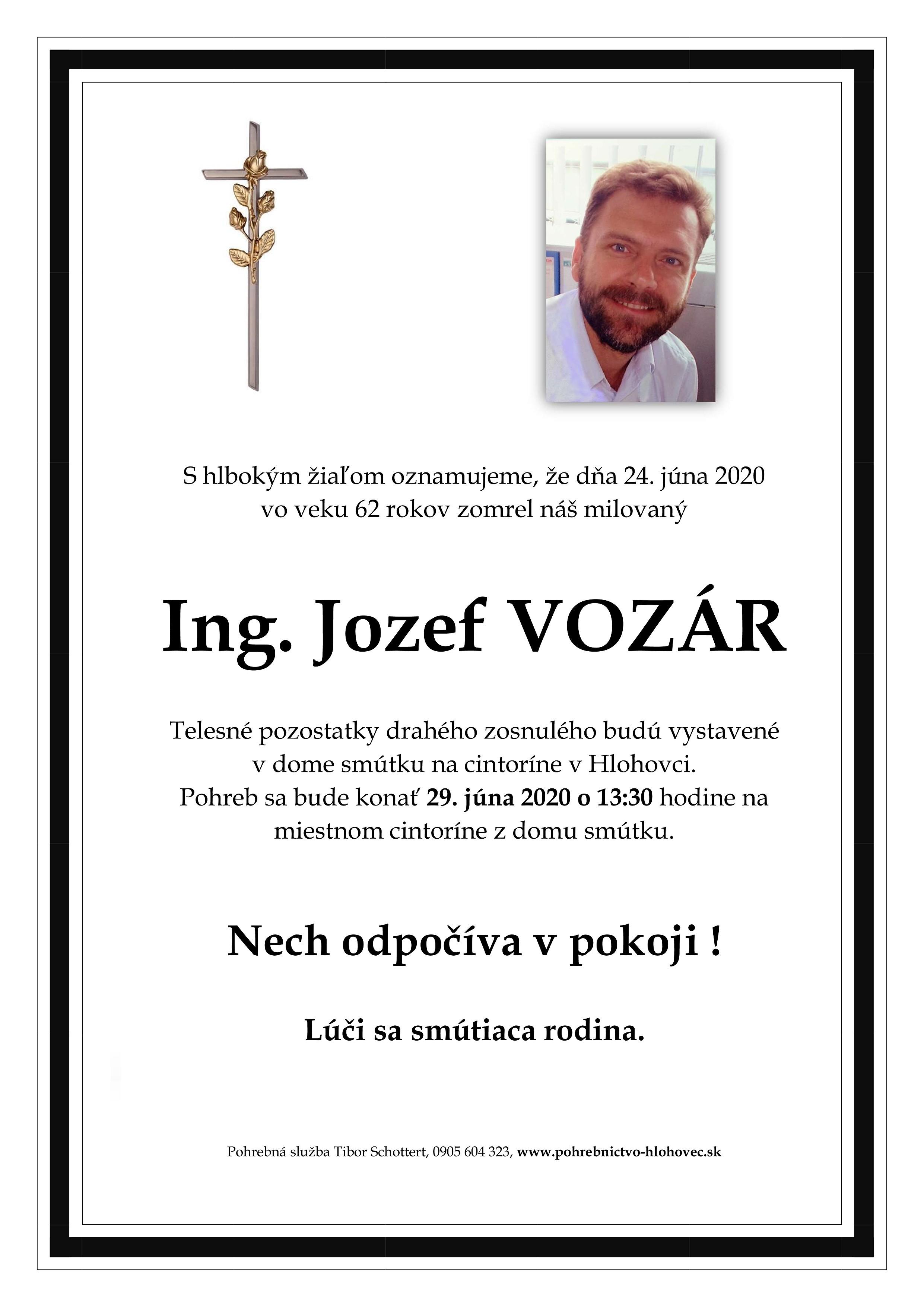 Ing. Jozef Vozár Parte