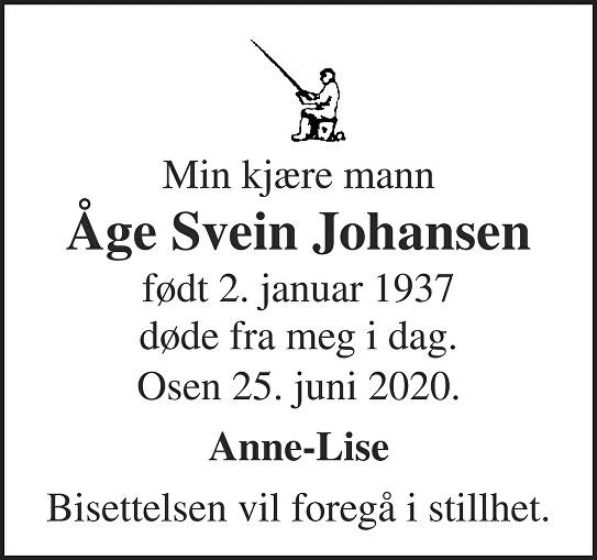 Åge Svein Johansen Dødsannonse