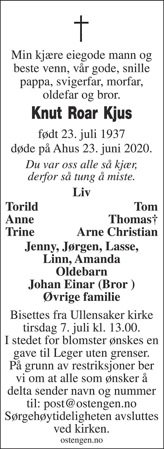 Knut Roar Kjus Dødsannonse