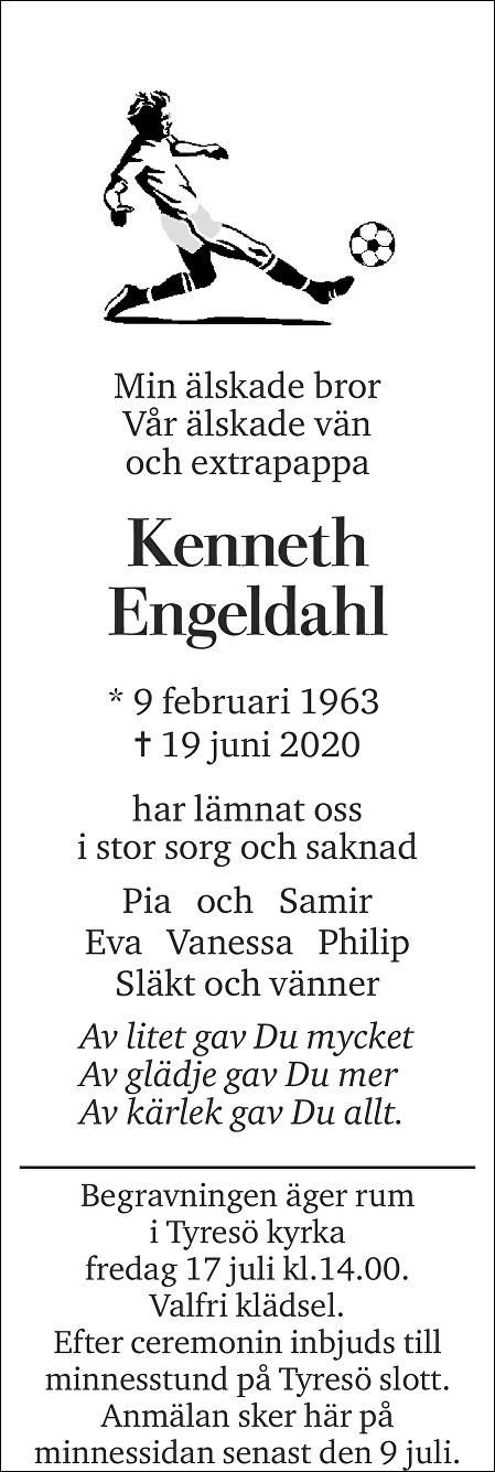 Kenneth Engeldahl Death notice
