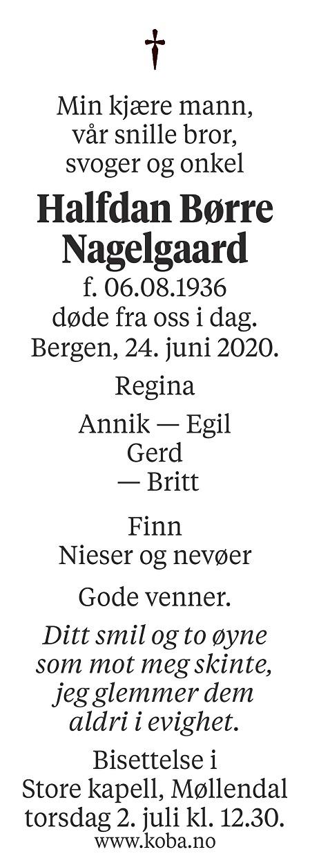 Halfdan Børre Nagelgaard Dødsannonse