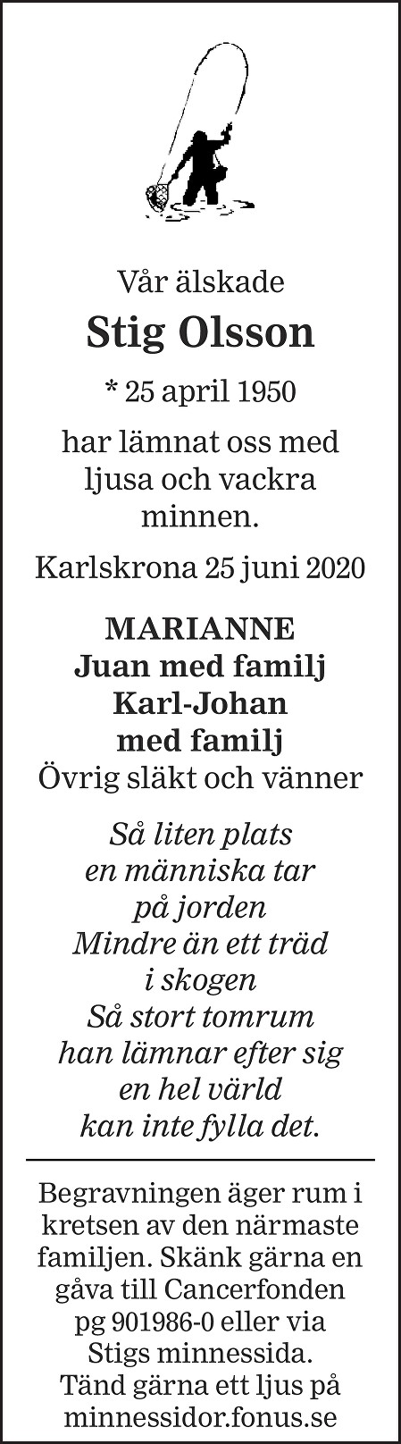 Stig Olsson Death notice
