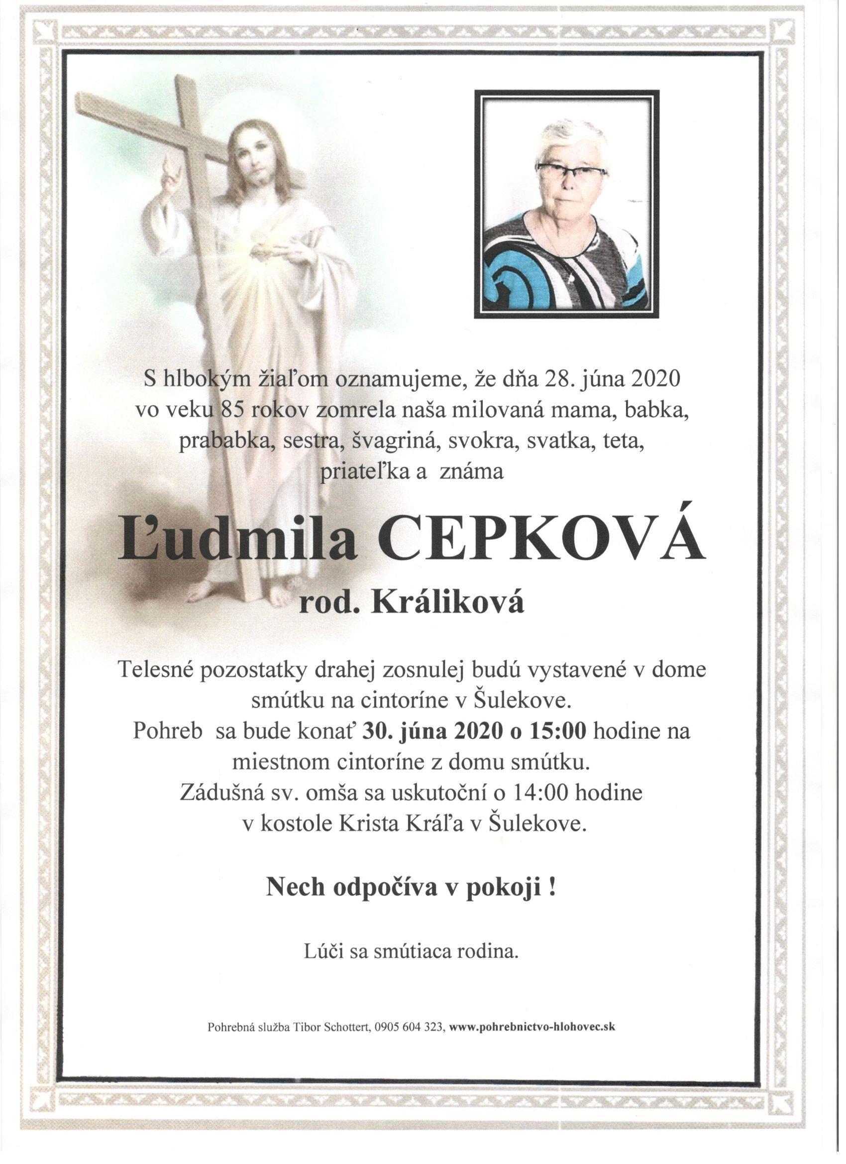 Ľudmila Cepková Parte