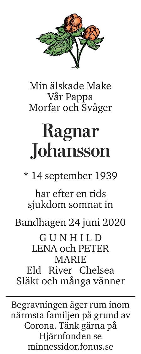 Ragnar Johansson Death notice
