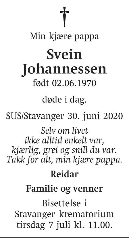 Svein  Johannessen Dødsannonse