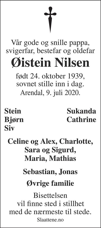 Øistein Nilsen Dødsannonse