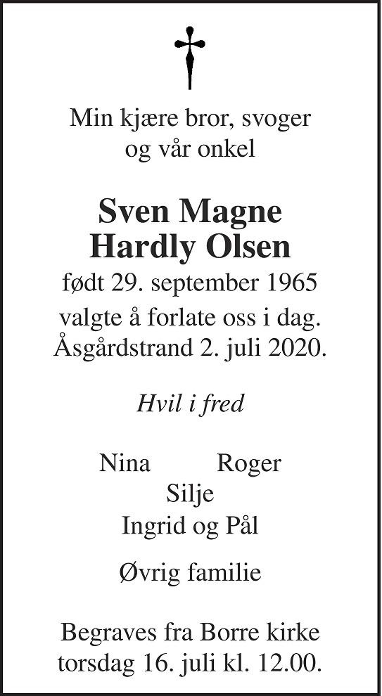 Sven Magne Olsen Dødsannonse