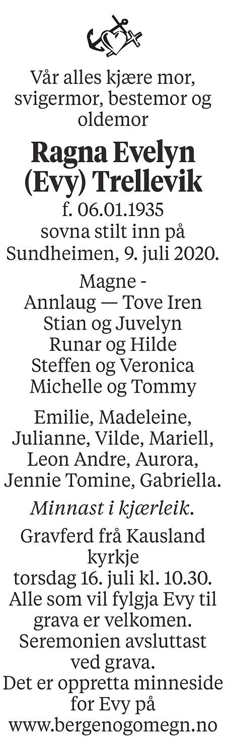 Ragna Evelyn Trellevik Dødsannonse