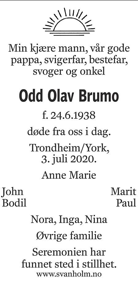Odd Olav Brumo Dødsannonse