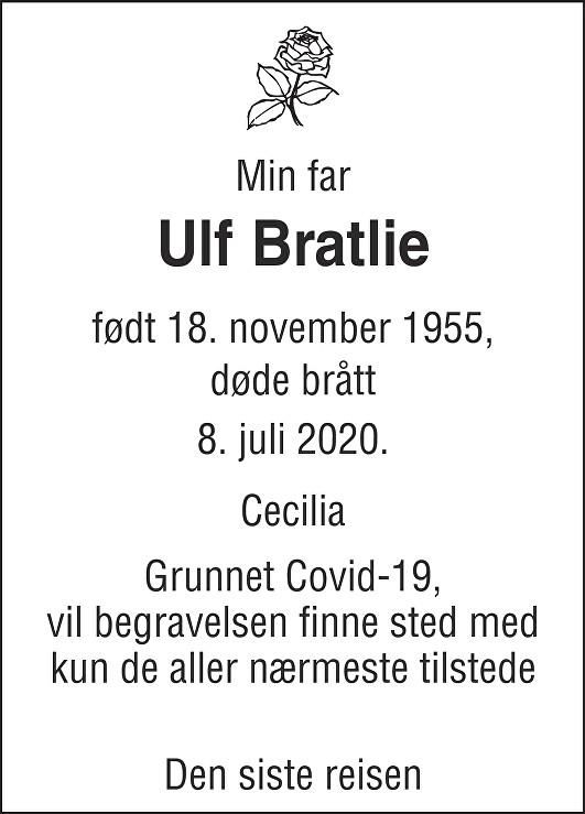Ulf Bratlie Dødsannonse