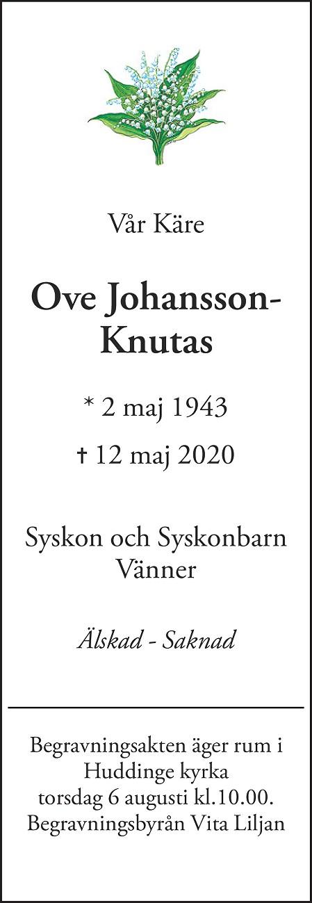 Ove Johansson-Knutas Death notice