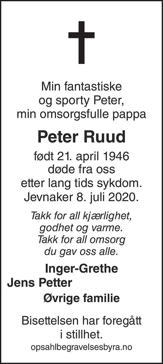 Peter Ruud Dødsannonse