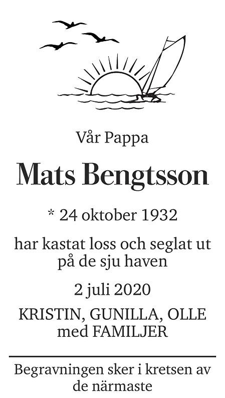 Mats  Bengtsson Death notice