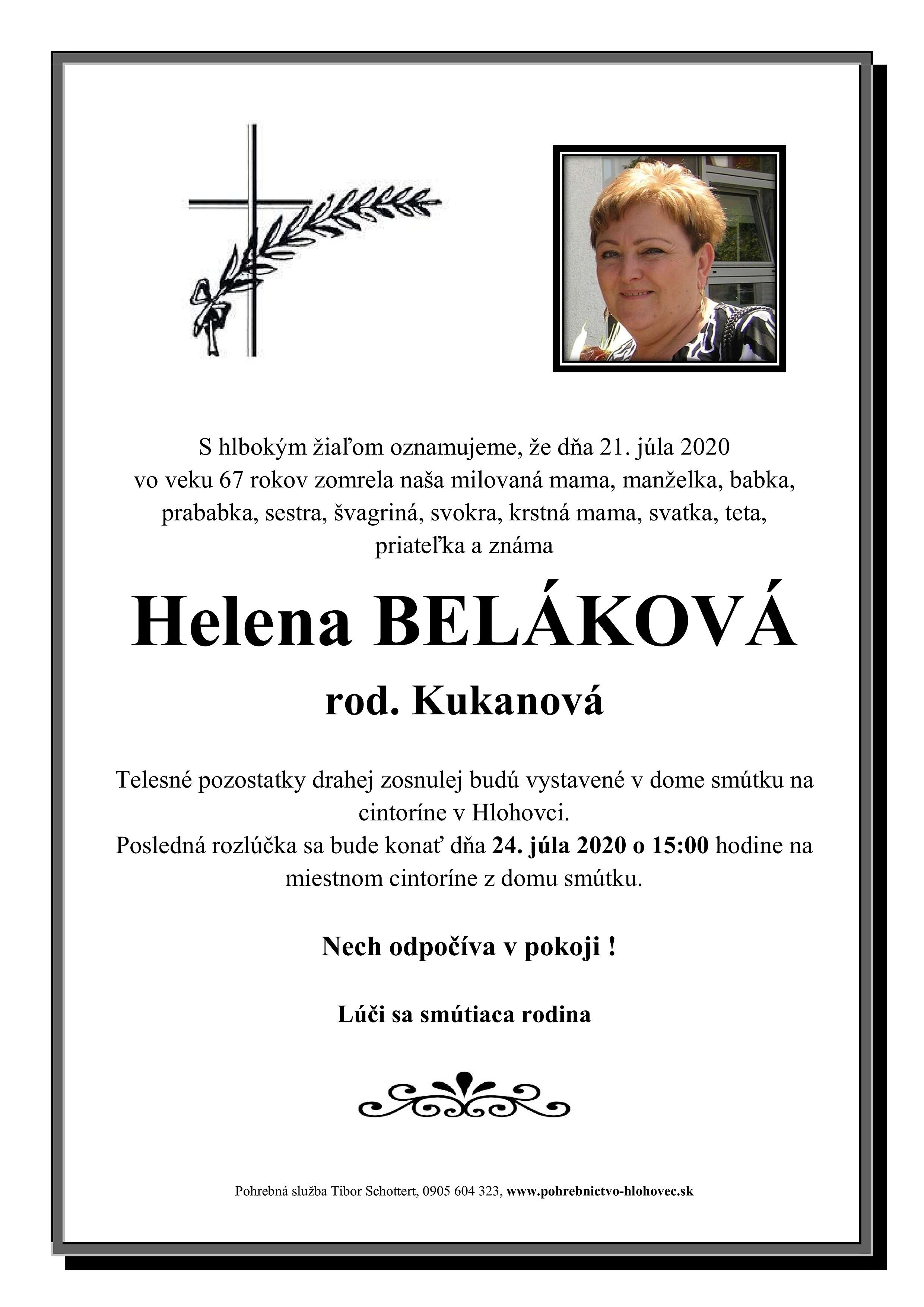 Helena Beláková Parte
