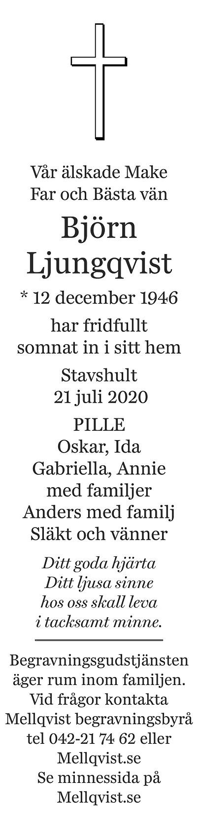 Björn Ljungqvist Death notice