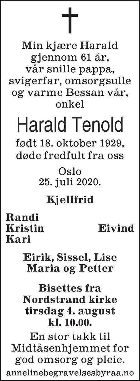 Harald Tenold Dødsannonse