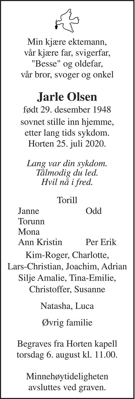 Jarle Olsen Dødsannonse