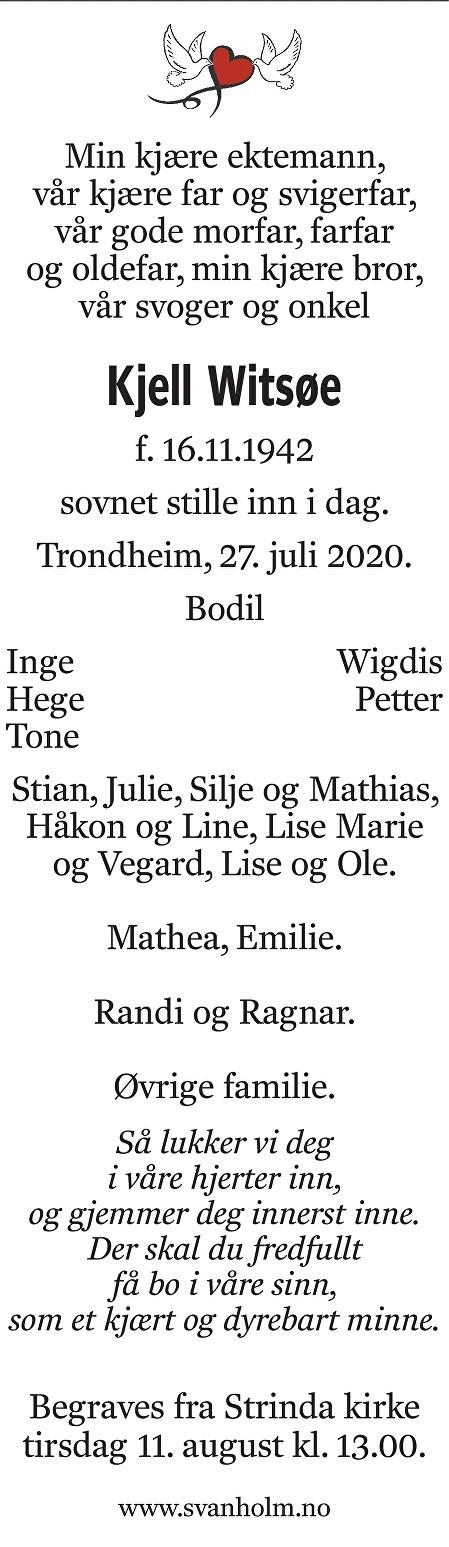Kjell Witsøe Dødsannonse