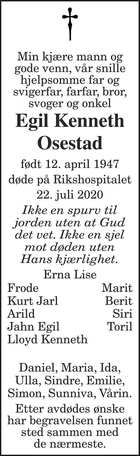 Egil Kenneth Osestad Dødsannonse