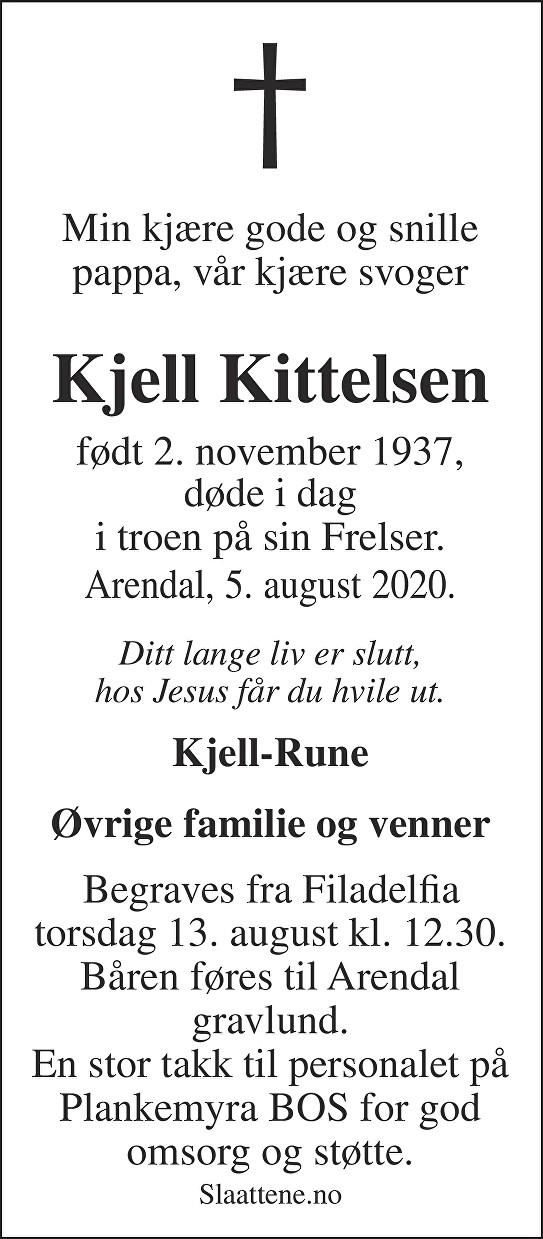 Kjell Kittelsen Dødsannonse