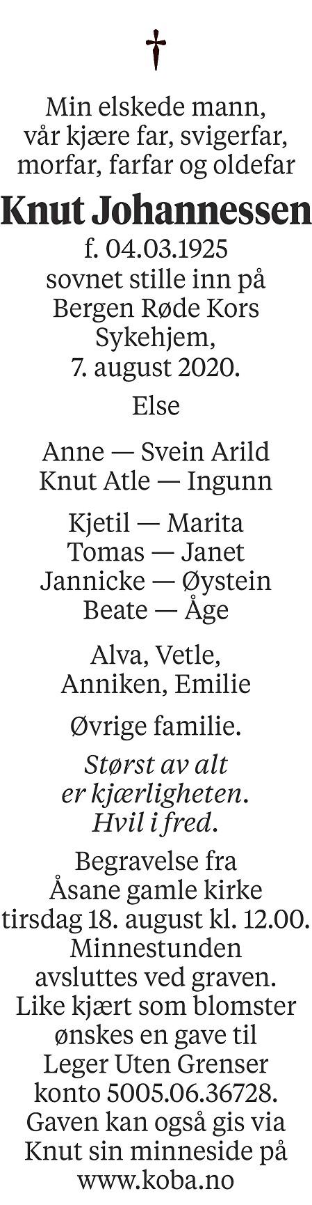 Knut Johannessen Dødsannonse