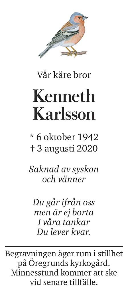 Kenneth Karlsson Death notice