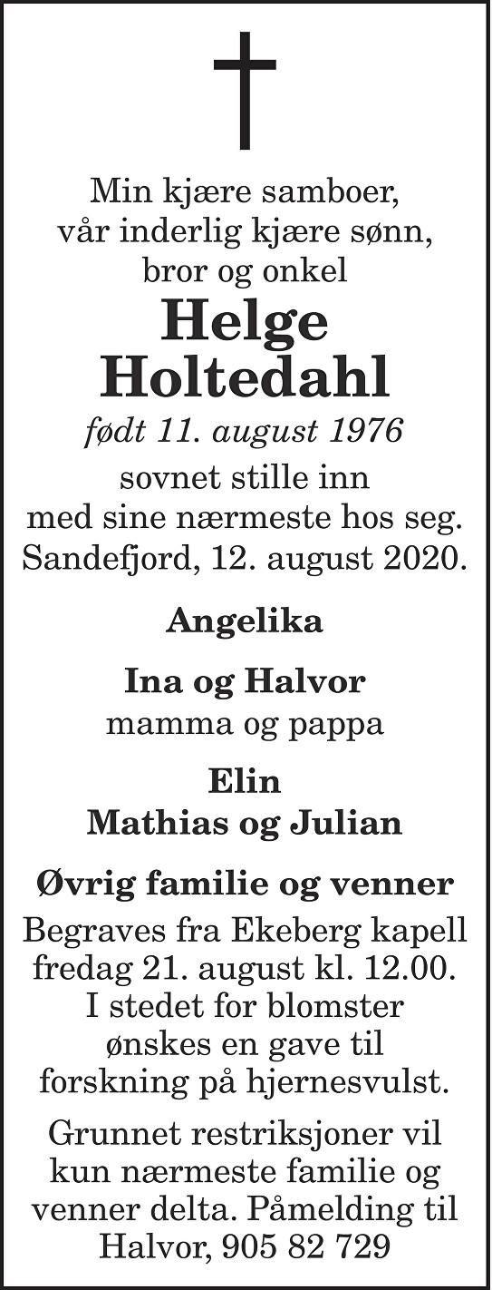 Helge Holtedahl Dødsannonse