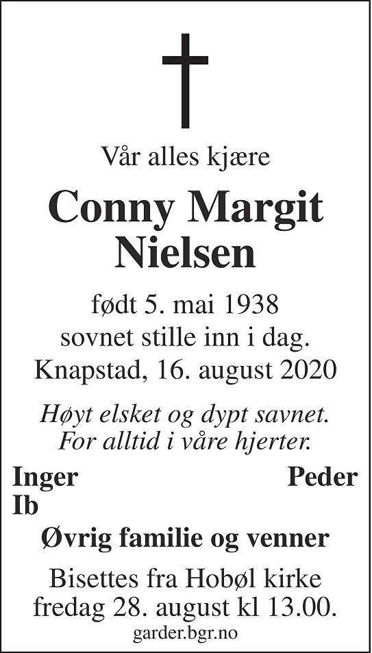 Conny Margit Nielsen Dødsannonse