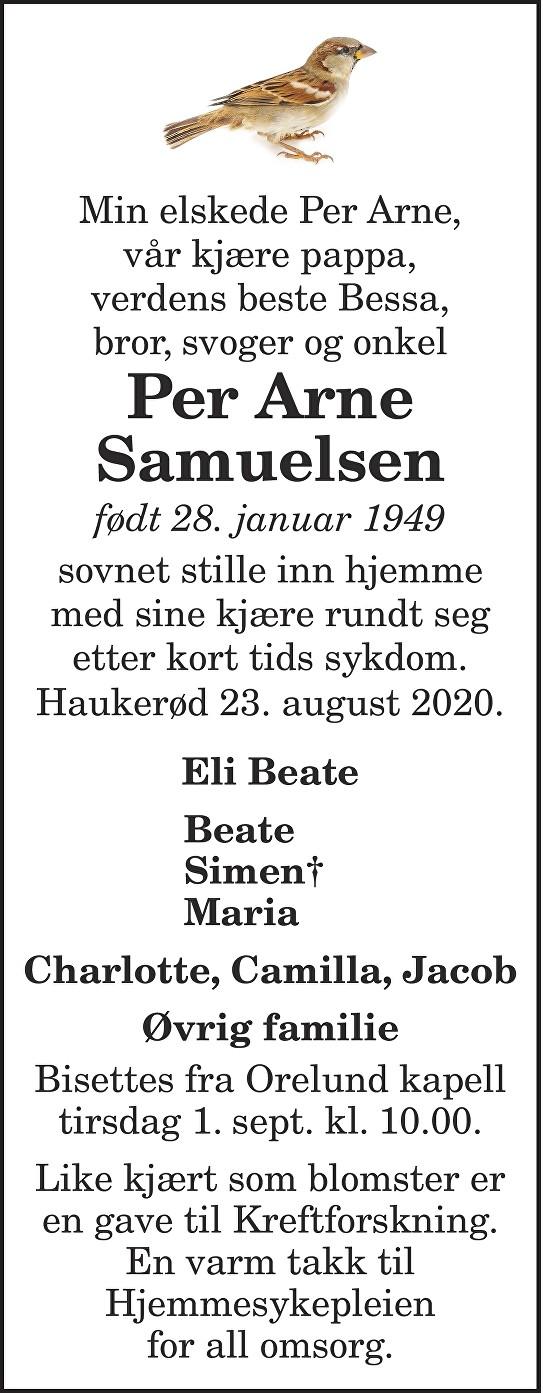 Per Arne Samuelsen Dødsannonse