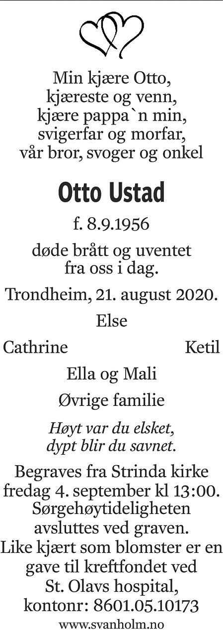 Otto Ustad Dødsannonse